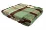 Плед шерстяной ТМ Vladi Уют зелено-коричневый 170х210