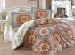 Постельное белье ТМ Hobby Poplin Diamante бордовое евро-размер
