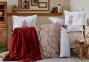 Постельное белье с пледом ТМ Karaca Home Paula kiremit 2019-1 евро-размер