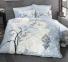 Постельное белье ТМ Luoca Patisca Ranforce Arte Bella голубое евро-размер