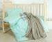 Детский постельный комплект с пледом ТМ Идея Корона мята