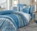 Постельное белье ТМ Hobby Poplin Lisa голубое евро-размер