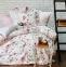 Постельное бельё ТМ Karaca Home сатин Gloria Pudra евро-размер