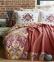 Постельное белье с пледом ТМ Karaca Home Putisca Turuncu евро-размер