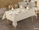 Скатерть Turkiz Tabe Swan 160х220 кремовый