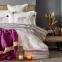 Постельное белье с пледом ТМ Karaca Home Espilo бордовое евро-размер