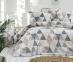 Постельное белье ТМ LightHouse бязь Piramit бежевый евро-размер