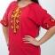 Вышитая блуза женская штапель с желтой вышивкой 1010
